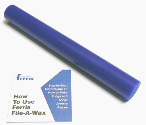 "Ferris® Solid Round Bar Blue Soft Carving Wax 1-5/16"" Diameter x 11-1/4"" Long"
