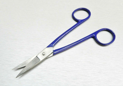 "Jewelers Shears Straight Blade Scissors Curved Handle Jewelry Making Snips 7"""