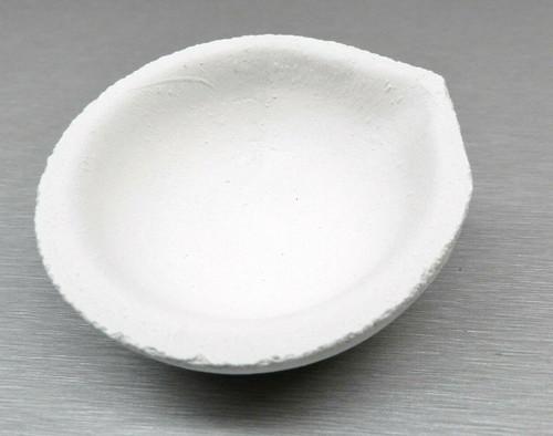Melting and Casting Ceramic Crucible Dish 155 Gram Capacity Made in Italy