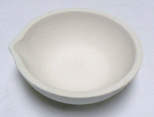 Melting and Casting Ceramic Crucible Dish 1750 Gram Capacity Made in Italy