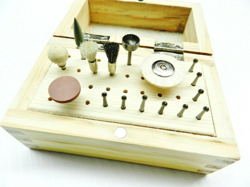 36 Hole Bur Wooden Box Organizer