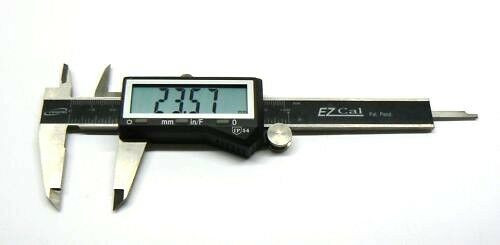 "4"" Digital Electronic Caliper by iGaging Fractional 3 Way LCD Stainless EZ Cal"