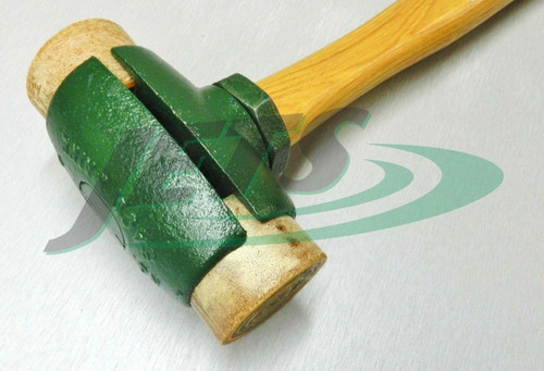 "Rawhide Mallet Split Head Hammer #5 GARLAND 31005 with 2-3/4"" Rawhide Faces"