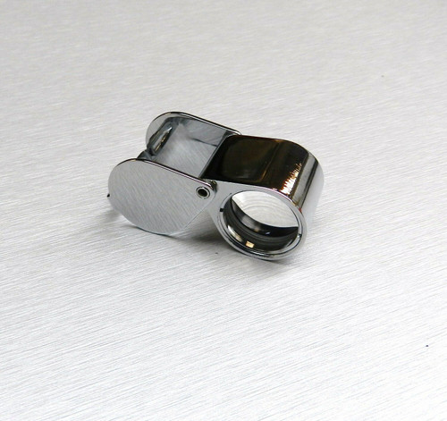 Jewelry Loupe 20X Triplet 21mm Silver Loupe with Leather Case