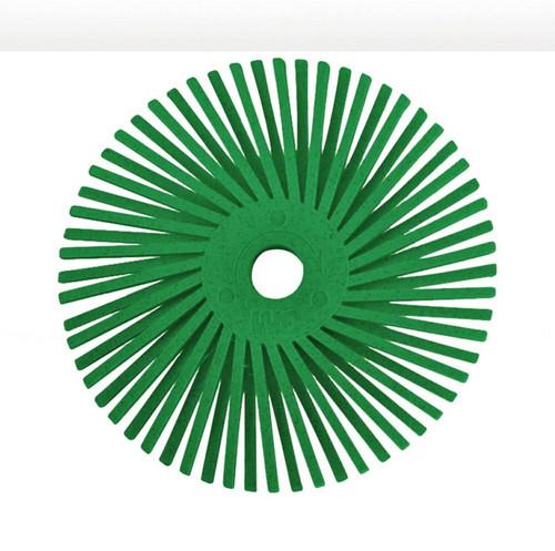 "3M Radial Bristle Discs 3"" Green  bristle brush 50 Grit Coarse"