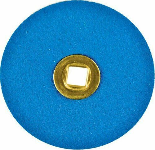 "Sanding Discs Blue Zircon 7/8"" Medium Grit Snap-On Brass Discs Box of 50"