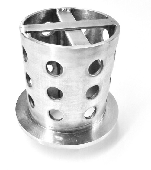 """Perforated Flask 3"""" x 4"""" Casting Flask Vacuum Casting Stainless 3x4 - 1/8"""" Thick"""