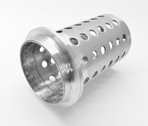 """Perforated Casting Flask 4""""x7"""" Flask Vacuum Casting Stainless 1/8"""" Wall Flanged"""