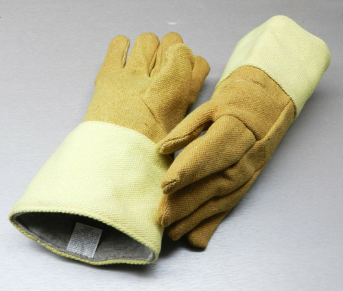 "Gloves High Temperature Protection Heat Resistant Glove PBI 14"" Pair Rated 1400F"