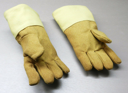 """Gloves High Temperature Protection Heat Resistant Glove PBI 14"""" Pair Rated 1400F"""