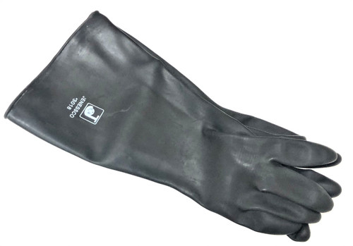 """Sand Blaster Gloves Rubber Sand Blasting 18"""" Pair Rubber Gloves"""