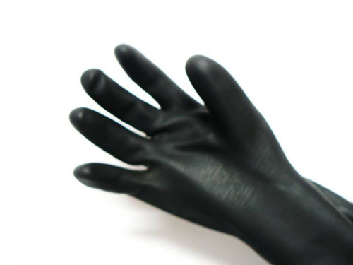 "Sandblasting Gloves Natural Rubber 24"" Sand Blast Cabinet Hand Protection"