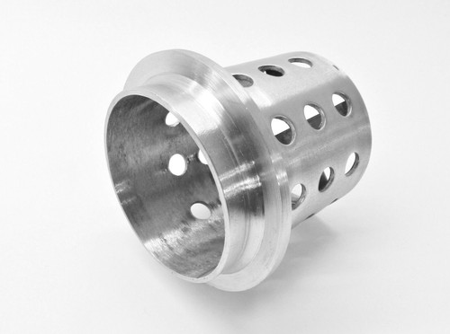 """Perforated Flask 3-1/2"""" x 4"""" Casting Flask Vacuum Casting Stainless 1/8"""" Wall"""