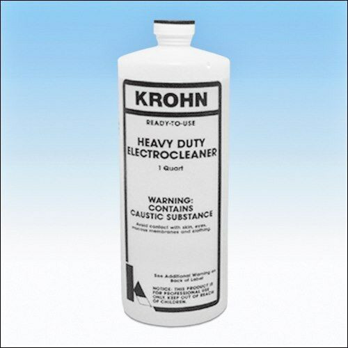Krohn Heavy Duty Electroclean Liquid Cleaning Solution Plating Electro Cleaner