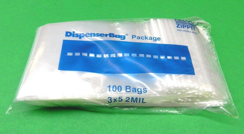 "2 Mil 3"" x 5"" Clear Ziplock Bags Pack of 1000"