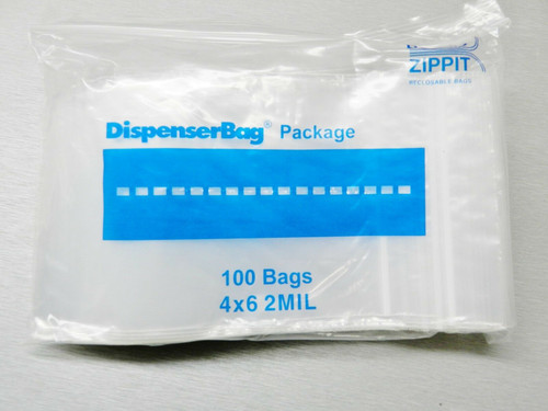 """Reloc Zippit Bags 4x6 Clear 2mil Reclosable 4"""" x 6"""" Zip Seal Lock Bags Pack of 1,000"""