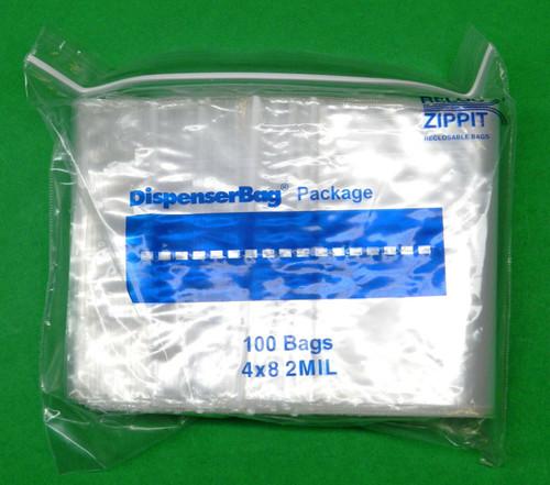 """2 Mil 4"""" x 8"""" Clear Ziplock Bags Pack of 1000"""