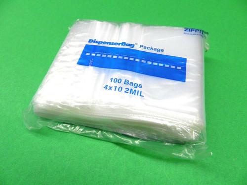 """2 Mil 4"""" x 10"""" Clear Ziplock Bags Pack of 1000"""
