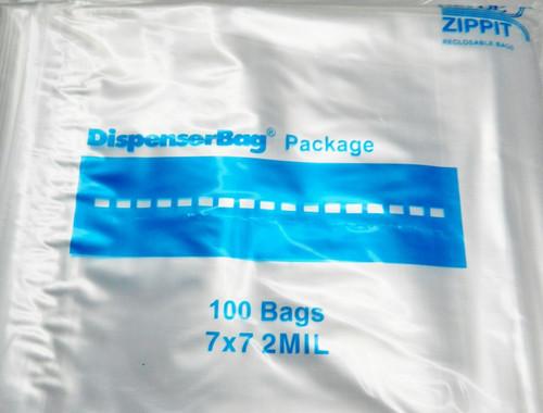 """2 Mil 7"""" x 7"""" Clear Ziplock Bags Pack of 1000"""