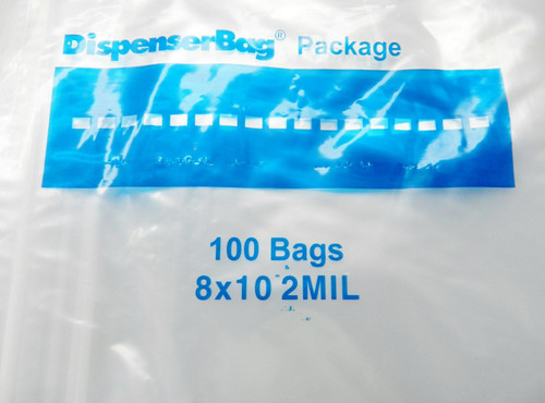 """2 Mil 8"""" x 10"""" Clear Ziplock Bags Pack of 1000"""