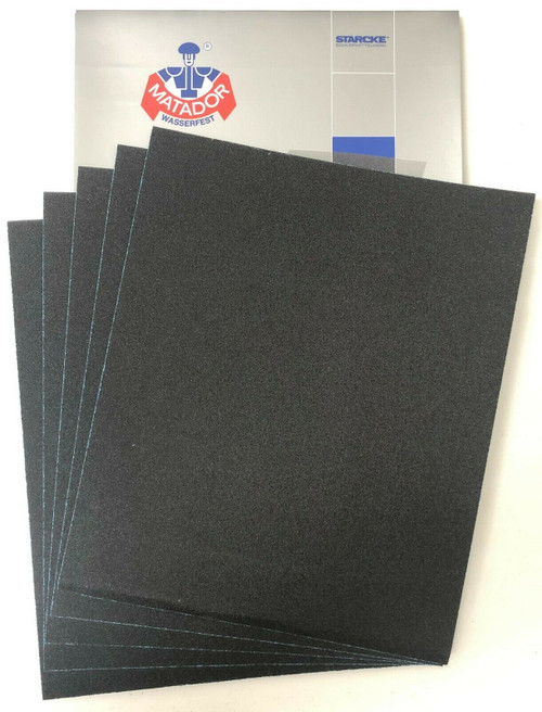 Matador Waterproof Sandpaper Wet or Dry Abrasive Paper 100 Grit Per Pack of 50 Made in Germany