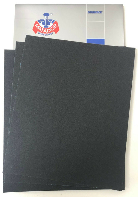 Matador Waterproof Sandpaper Wet or Dry Abrasive Paper 120 Grit Per Pack of 50 Made in Germany