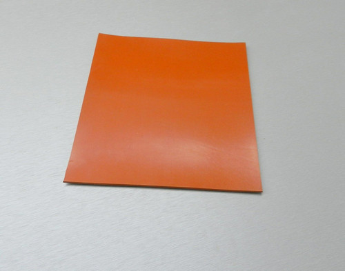 "Silicone Rubber Pad 4"" x 4"" Square 1/4"" Thick High Temperature Insulation Mat"