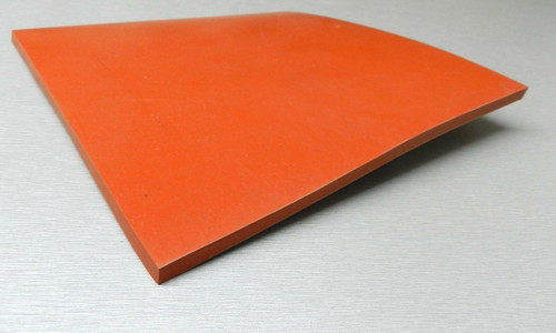 "Silicone Rubber Pad 5"" x 5"" Square 1/8"" Thick High Temperature Insulation Mat"