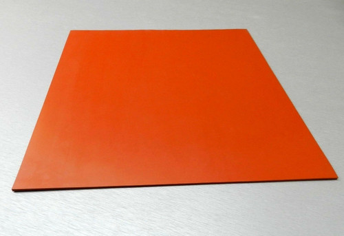 "Silicone Rubber Pad 12"" x 12"" Square 1/4"" Thick High Temperature Insulation Mat"