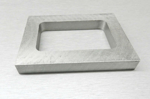 "Mold Rubber Frame 1/2"" Thick Aluminum Jewelry Casting Mold Making for Vulcanizer"