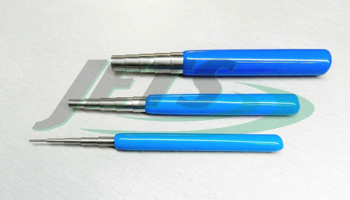 Wire Wrapping Mandrels Steel 3 pc Set Bead Working Jump Ring Making Jewelry Tool