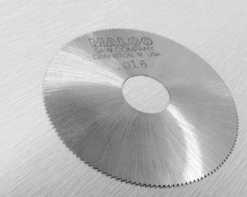 "Malco Saw Blade Jewelers Slotting Saws 2"" High Speed Circular Saw Blades 0.016"""