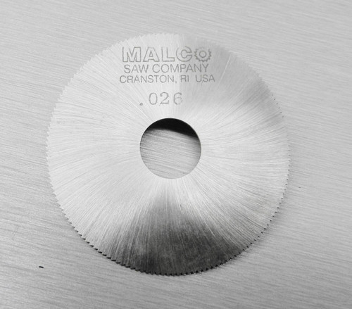 "Malco Saw Blade 2"" Jewelers Slotting Saws High Speed Circular Saw Blades 0.026"""