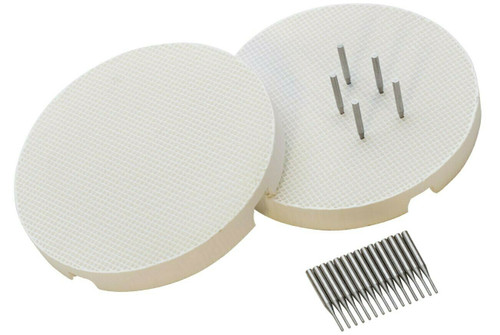 Soldering Mini Honeycomb Boards & Pins - SET of 2 with 20 Metal Pins