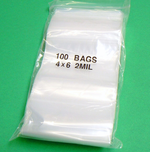 "4"" X 6"" Zip Lock Bag1000 Plastic Zip Seal Bags 2mil Clear Bags Large Size"