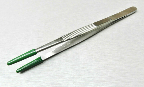 "6"" Tweezers PVC Rubber Coated Tips Utility Forceps Handling Parts Holding NO MAR"