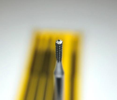 Fox Bur 21 Cylinder Square Cross Cut 6pcs Burs 0.8 mm Made in Germany