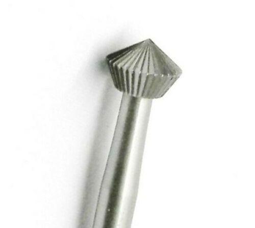 Jewelers Hart Bur 0.5 mm 6 pcs Stone Setting Bur 90° Size 005 FOX 156C Made in Germany