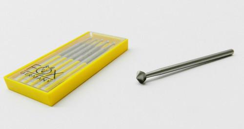 Fox Bur 70º Hart 446 Bearing Cutter 1.2 mm Pack of 6