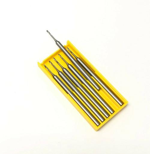 Jewelers Fox Fig 77 Twist Drill Steel Bur Size 0.5mm Made in Germany 6pcs