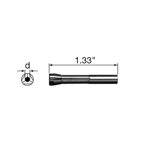 "NSK Collet CHH-3.175 Handpiece Attachment 1/8"" for IH-300, IR-310, EHL-401, EHR.401, EHR-500 and VH.E"