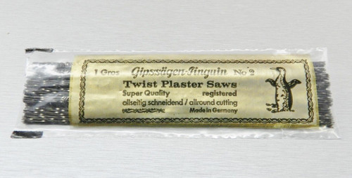 Spiral Wax Saw Blade Saw Frame #2 Cut Jewelry Carving Wax and Plaster 1 Dz.