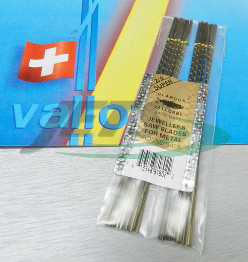 Swiss Saw Blades Vallorbe Lames De Scie #2/0 Jewelers Saw Blade Original 1 gross