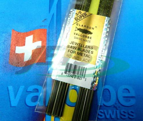 Swiss Saw Blades Vallorbe Lames De Scie #3/0 Jewelers Saw Blade Original 1 gross