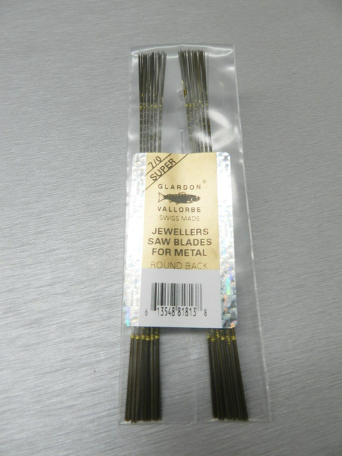 Vallorbe Swiss Saw Blades Lames De Scie #7/0 Jewelers Saws Original A-1 1-Gross