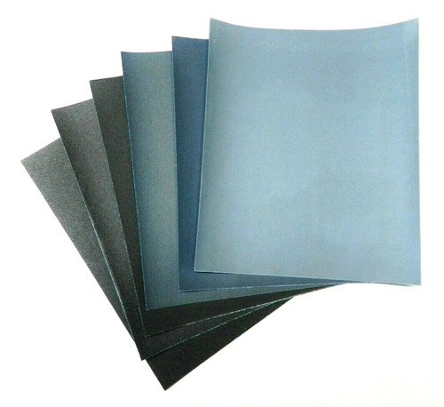 Matador 9x11 Wet Dry Sandpaper 6 Sheets Abrasive Sanding Paper Assortment 60-180