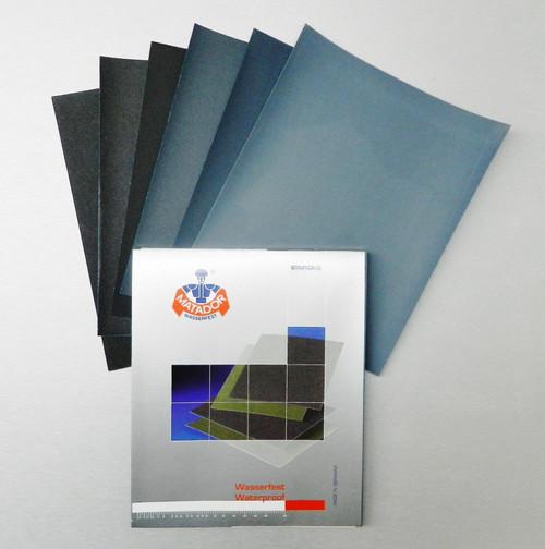 Matador 9x11 Wet Dry Sandpaper 6 Sheets Abrasive Sanding Paper Assortment 60-180