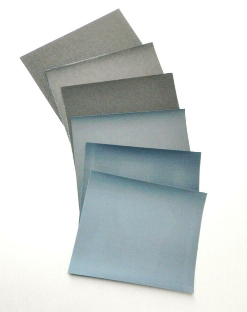 Matador 6 Sheet Assortment Wet Dry Sandpaper Abrasive Sanding Paper 180-600 Grit