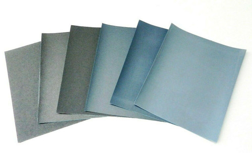 Matador 6 Sheet Assortment Wet Dry Sandpaper Abrasive Sanding Paper 1500-7000 Gr