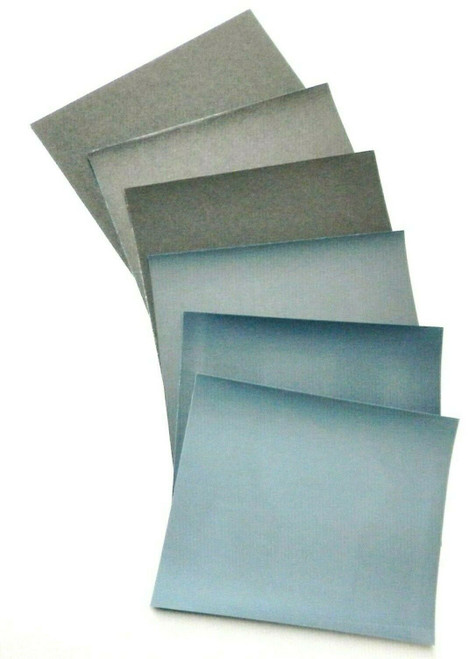 Matador 6 Sheet Assortment Wet Dry Sandpaper Abrasive Sanding Paper 800-2500 Grt